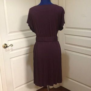 Elle Dresses - Elle Purple Midi Dress with Floral Accent Size M